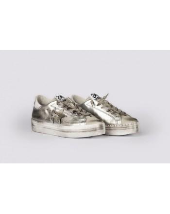 2 STAR - Platform Sneakers  2S3062 - White/Silver