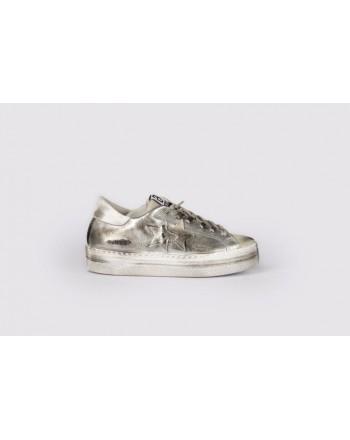 2 STAR - Sneakers  Platform 2S3062  Argento/Bianco