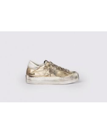 2 STAR - Sneakers  2S3063 Oro/Bianco