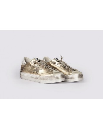 2 STAR - Sneakers 2S3063 White/Gold