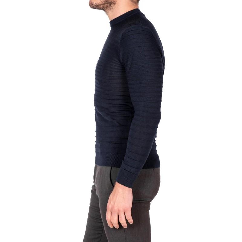EMPORIO ARMANI - Wool knit - Navy