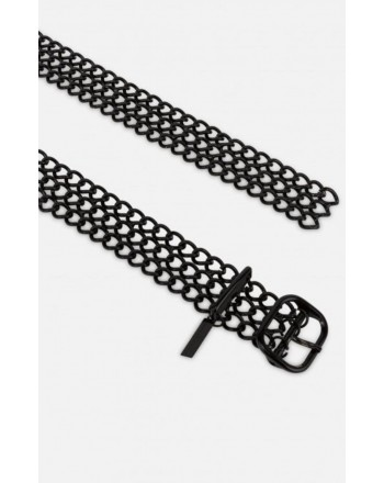 PHILOSOPHY - Enameled Chain Belt - Black