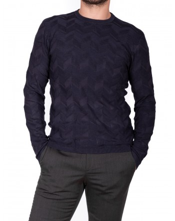 EMPORIO ARMANI - Neck sweater in Viscose - Blue