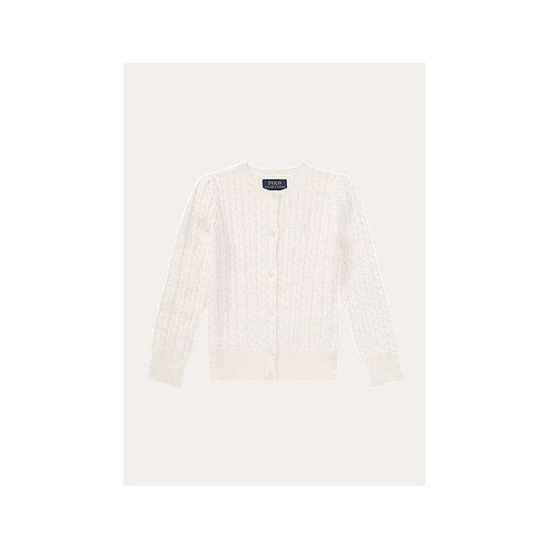 POLO KIDS - Cable-Knit Cotton Cardigan
