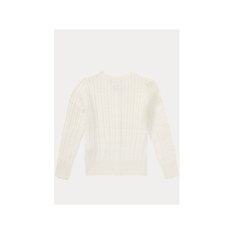 POLO KIDS -Cable Knit Cotton Cardigan