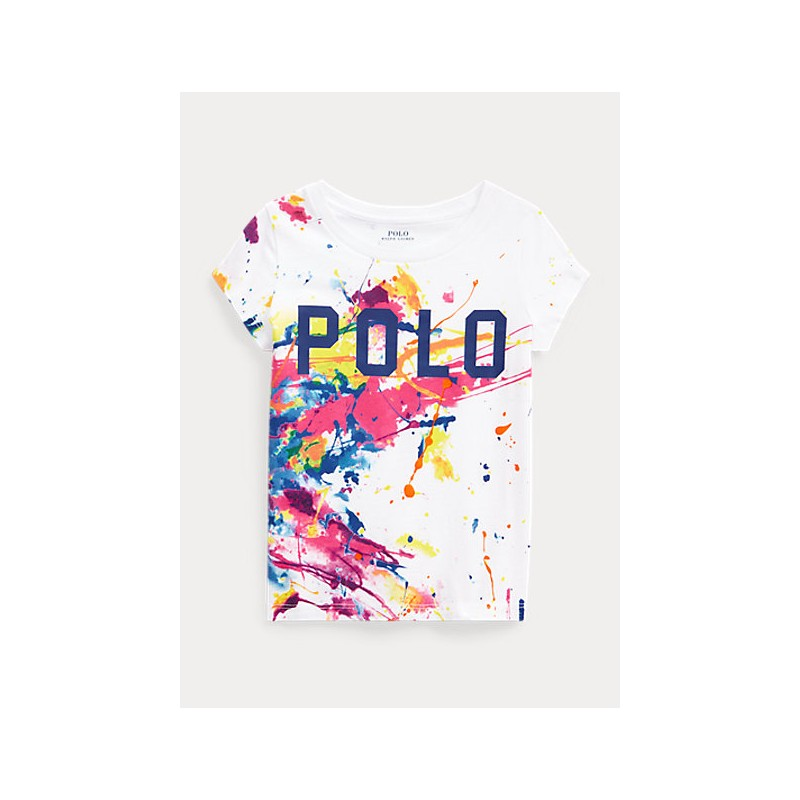 POLO KIDS - T-Shirt Basic Spruzzi Vernice -