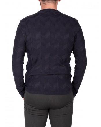EMPORIO ARMANI - Neck sweater in Viscose - Blue