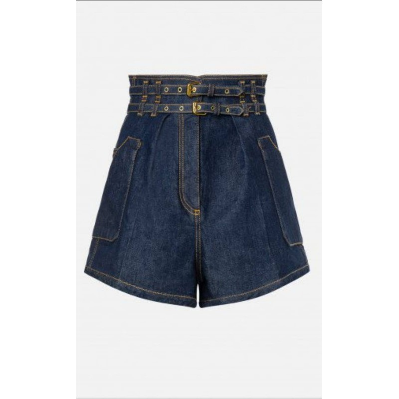 PHILOSOPHY - Short in denim Camille - Denim