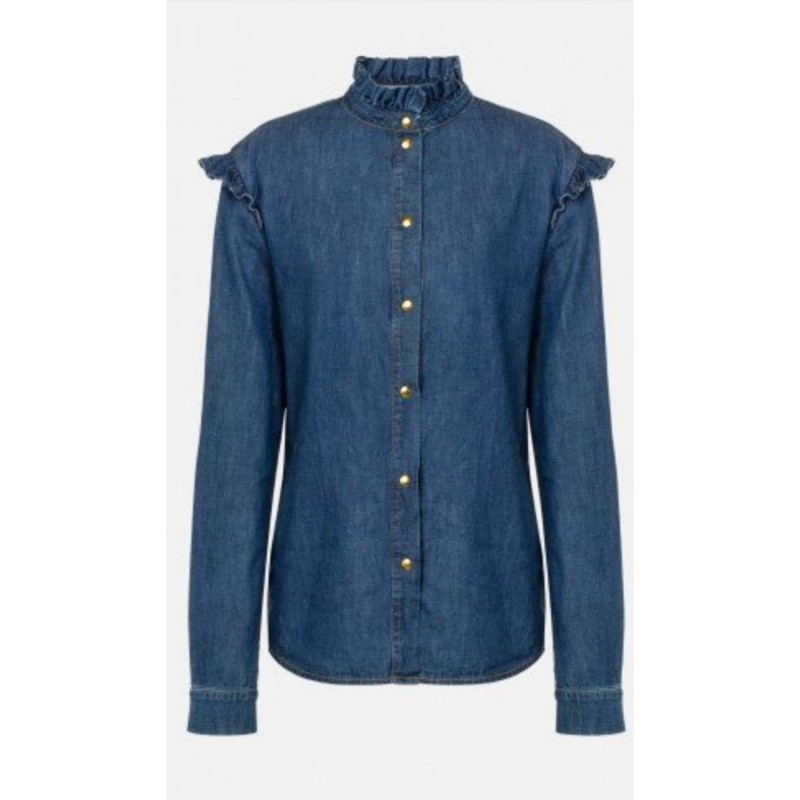 PHILOSOPHY - Camicia in chambray Liz - Denim