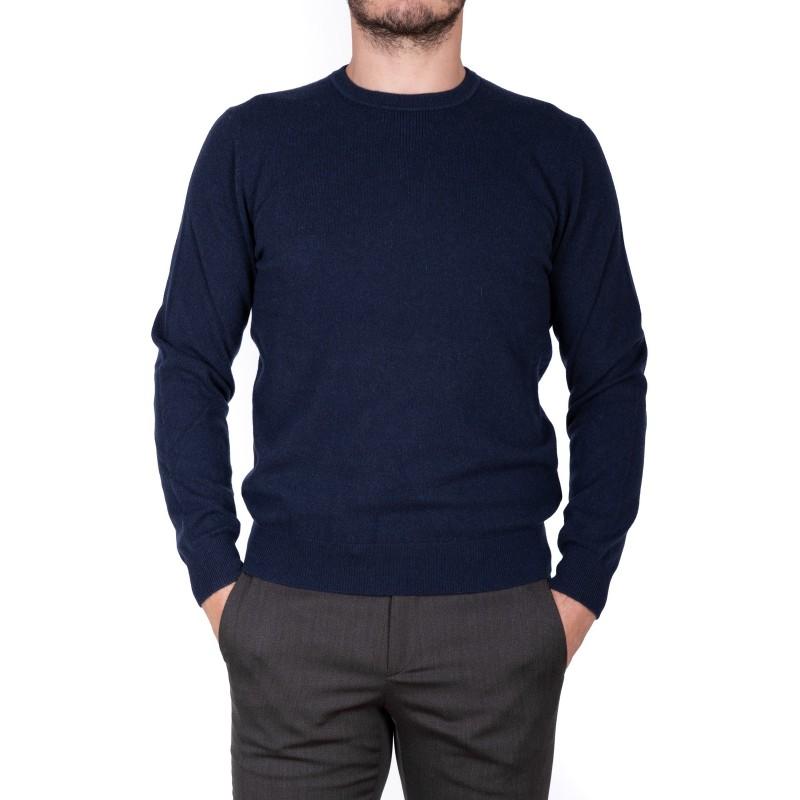 ERMENELGILDO ZEGNA - Cashmere round-neck sweater - Blue
