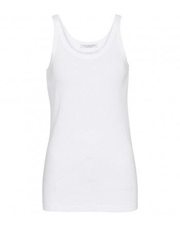 PHILOSOPHY - Ribbed cotton tank top - White