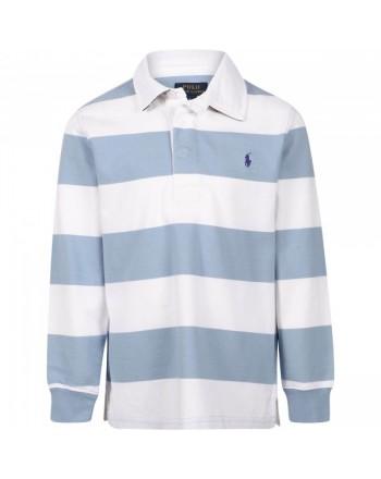 POLO KIDS - Stripèed Rugby  Polo Shirt
