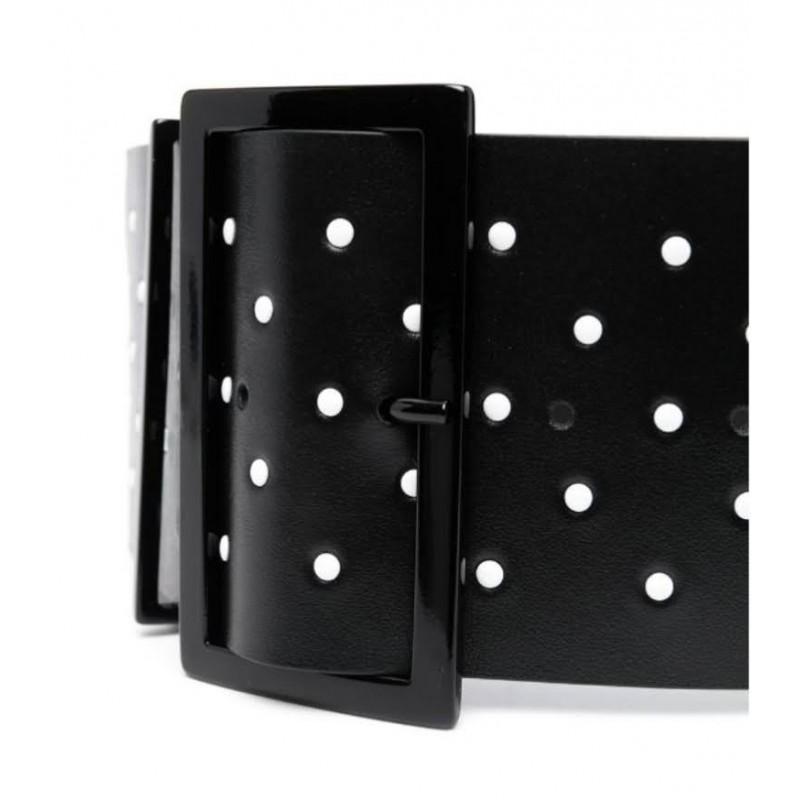 PHILOSOPHY - Polka dot belt - Black / White