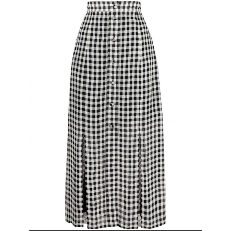 PHILOSOPHY - Long high-waisted skirt - Black / White