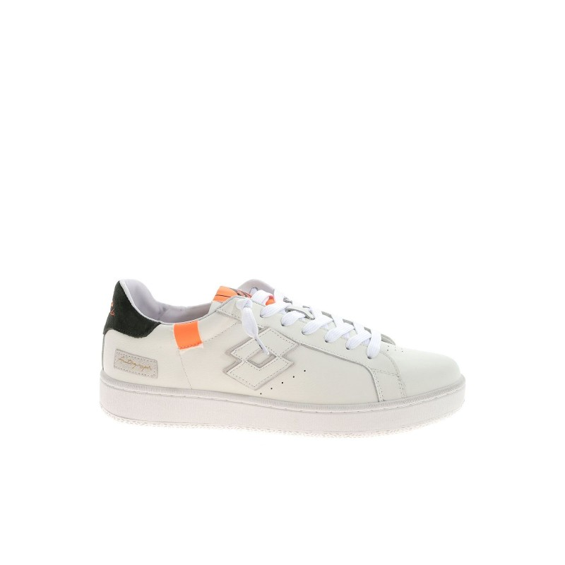 LOTTO LEGGENDA - Sneakers AUTOGRAPH  BLOCK - Bianco/Arancio