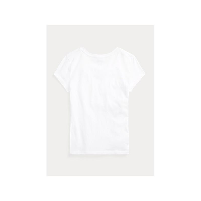 POLO KIDS - T-Shirt Bandiera - Bianco -