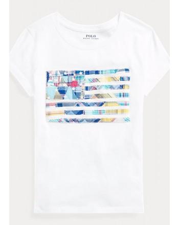 POLO KIDS - T-Shirt Flag -White -