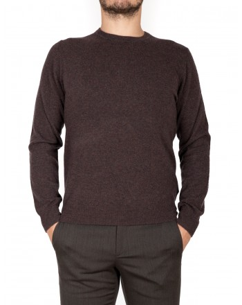 ERMENELGILDO ZEGNA - Cashmere round-neck sweater - Brown