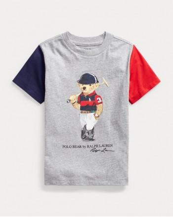 POLO KIDS - T-Shirt  Bear - Colored Sleeve -