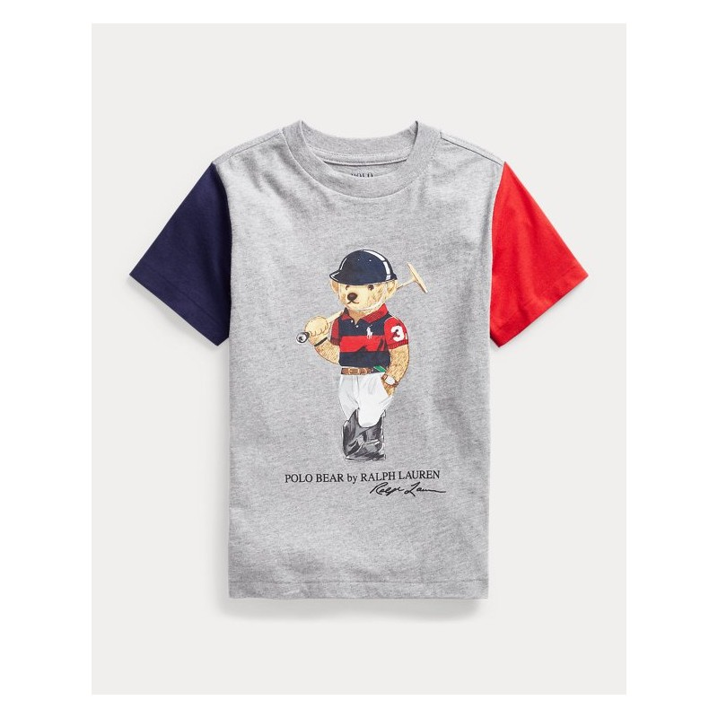 POLO KIDS - T-Shirt Orso - Maniche Colorate -