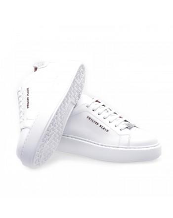 PHILIPP PLEIN - Lo-Top Sneakers in leather - White