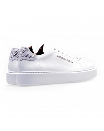 PHILIPP PLEIN - Lo Top Sneakers in pelle - Bianco