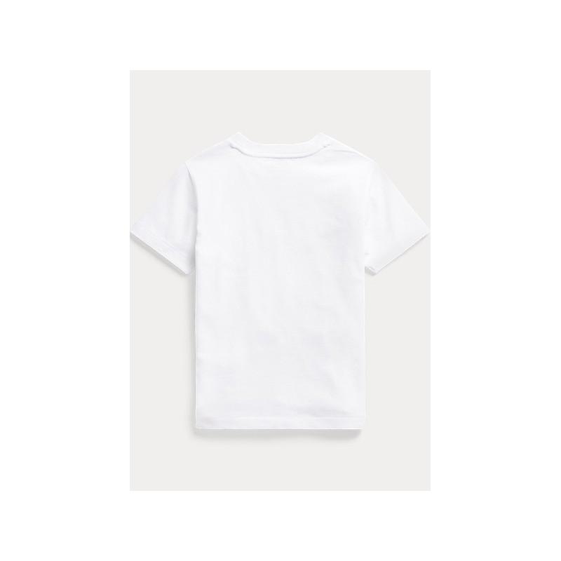 POLO KIDS - T-Shirt Orso Sub- Bianco-