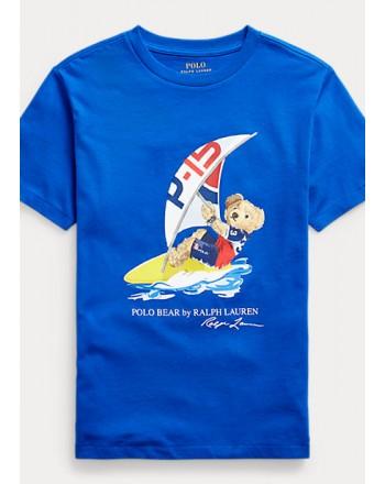 POLO KIDS - T-Shirt Orso Surf - Royal -
