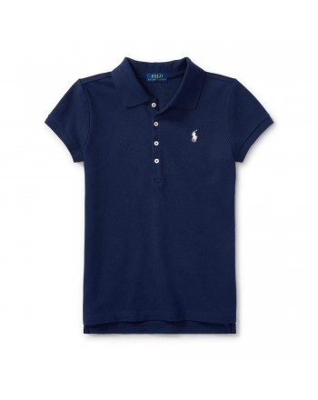 POLO KIDS - Basic 5-Button Polo Shirt - Blue -