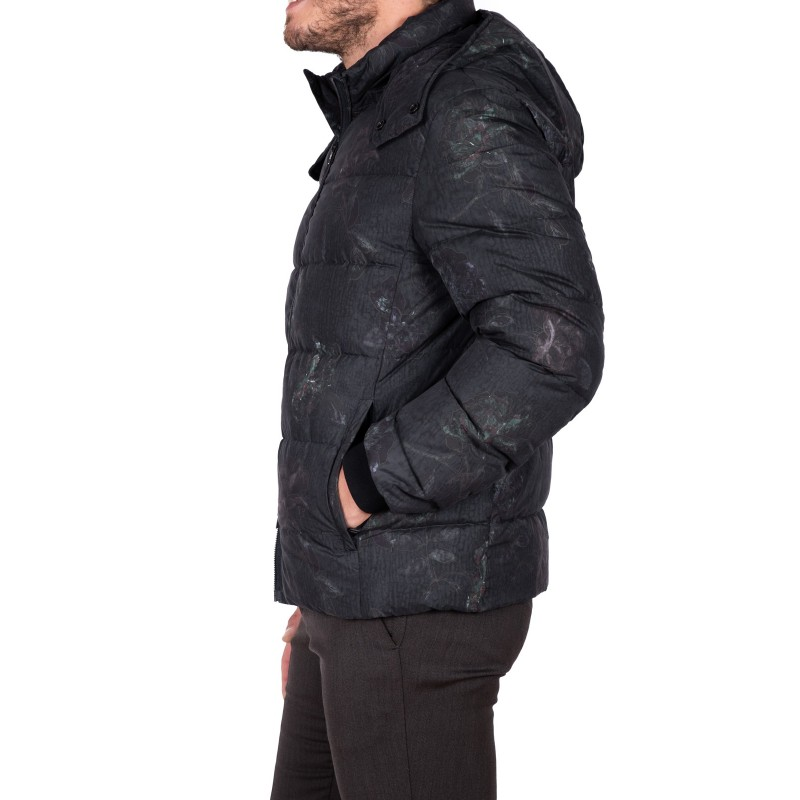 ETRO - Camouflage Quilted down jacket - Black