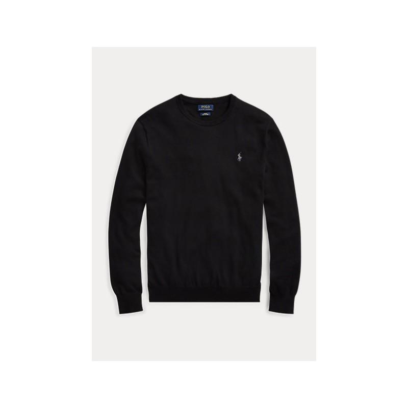 POLO RALPH LAUREN  - Slimed cotton wool - Black -