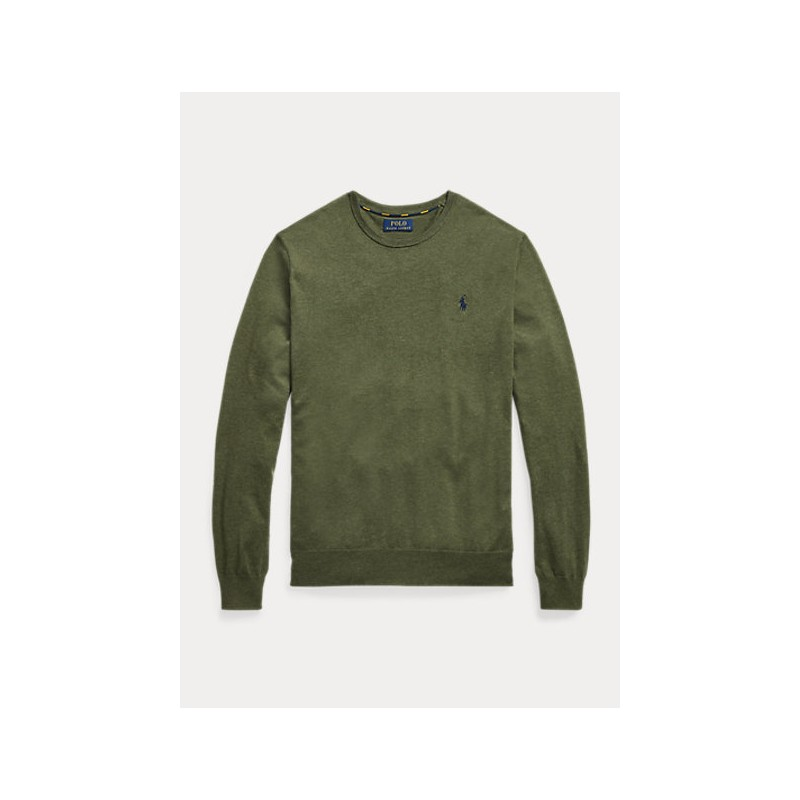 POLO RALPH LAUREN - Slimed cotton wool - Military -