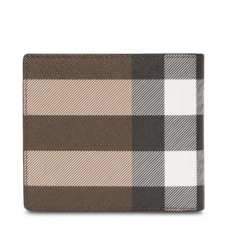 BURBERRY - International check wallet - Dark Birch Brown