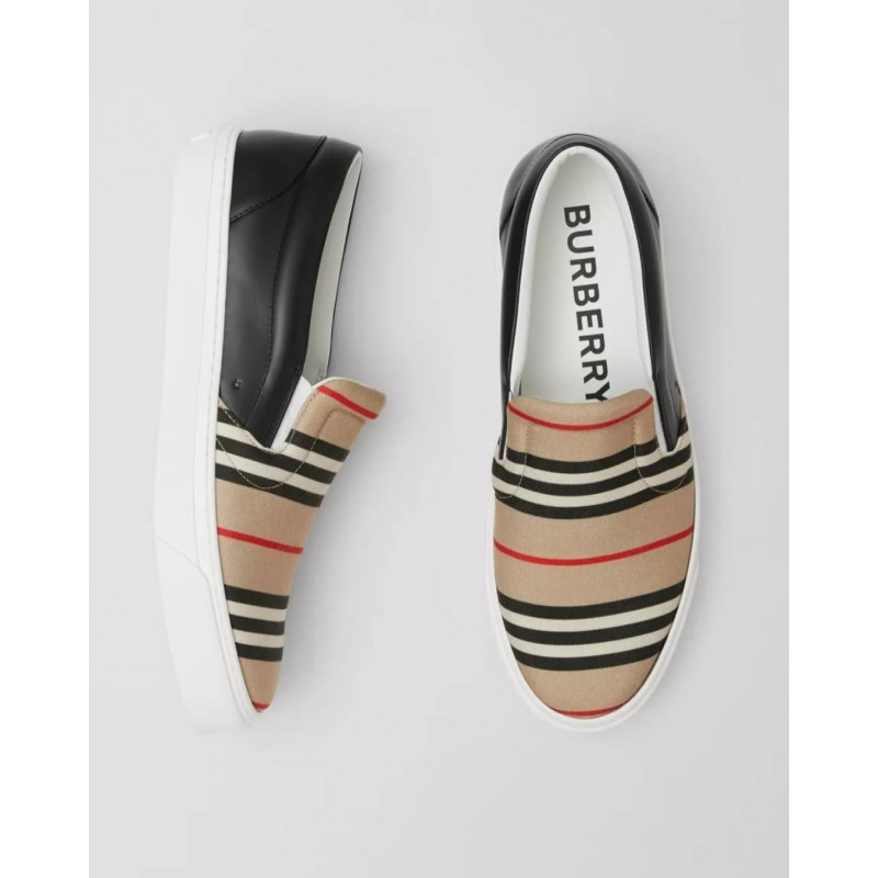 BURBERRY - Sneakers senza lacci  - Archive Beige