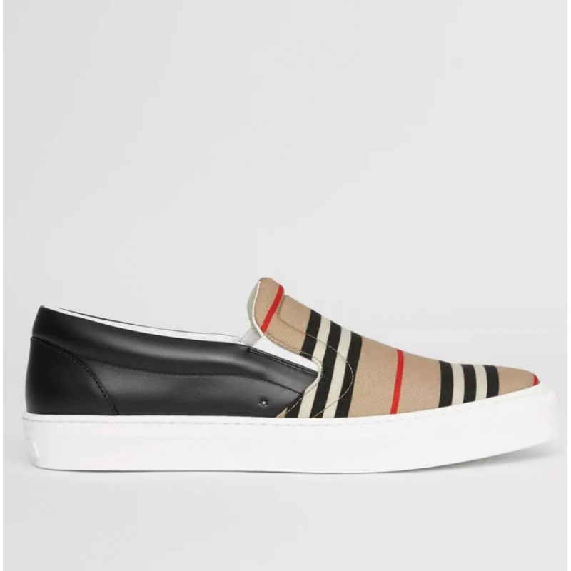 BURBERRY - Sneakers without laces - Archive Beige