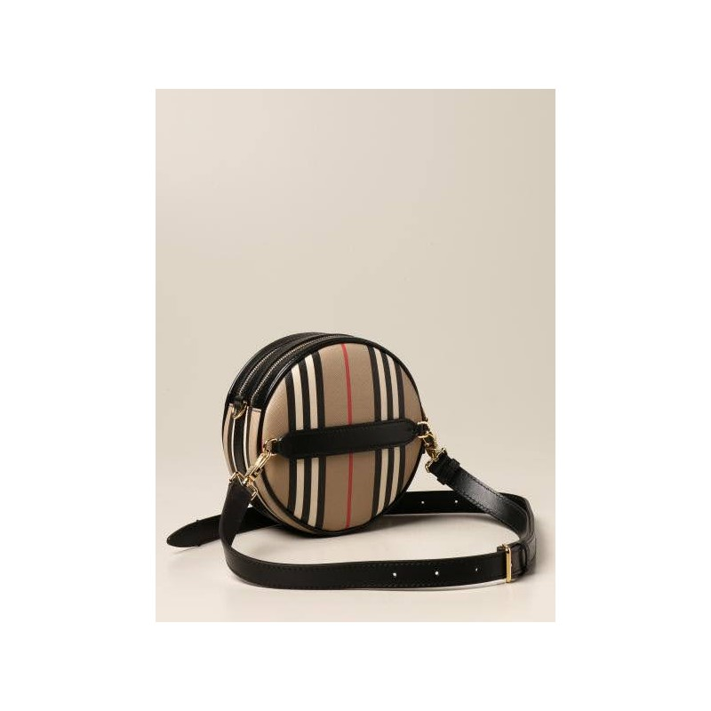 BURBERRY - Louise bag with iconic striped pattern - Archuve Beige