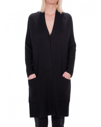 MAX MARA STUDIO - OMERO cardigan in pure new wool - Black
