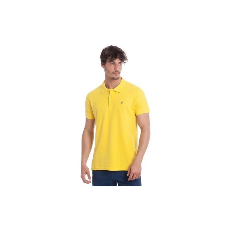 POLO RALPH LAUREN  - Polo Lavate Custom Slim Fit - Yellow