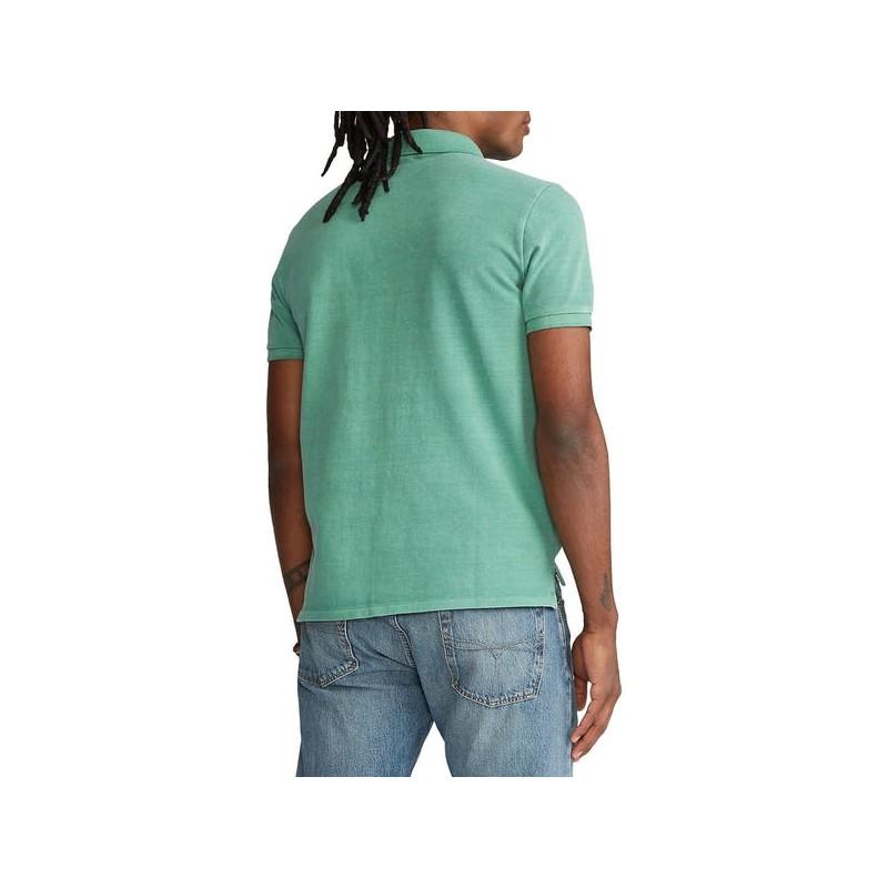 POLO RALPH LAUREN  - Polo Lavate Custom Slim Fit - Green