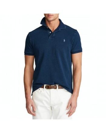 POLO RALPH LAUREN  - Polo Lavate Custom Slim Fit - Blue