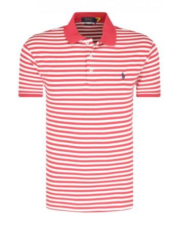 POLO RALPH LAUREN  - Striped Polo  - White /Red -