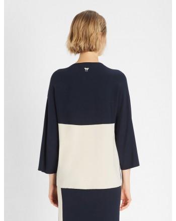 WEEKEND MAX MARA -  MULTIA Cotton Jersey T-Shirt - Blue