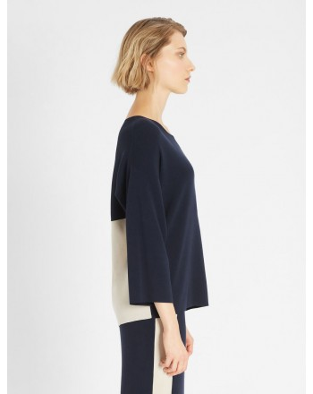 WEEKEND MAX MARA - CIN CIN Cotton Knit - Block Canapa Blue