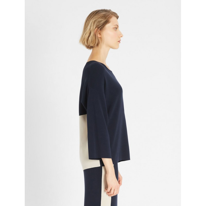 WEEKEND MAX MARA - T-Shirt in Jersey di Cotone MULTIA  -Blu