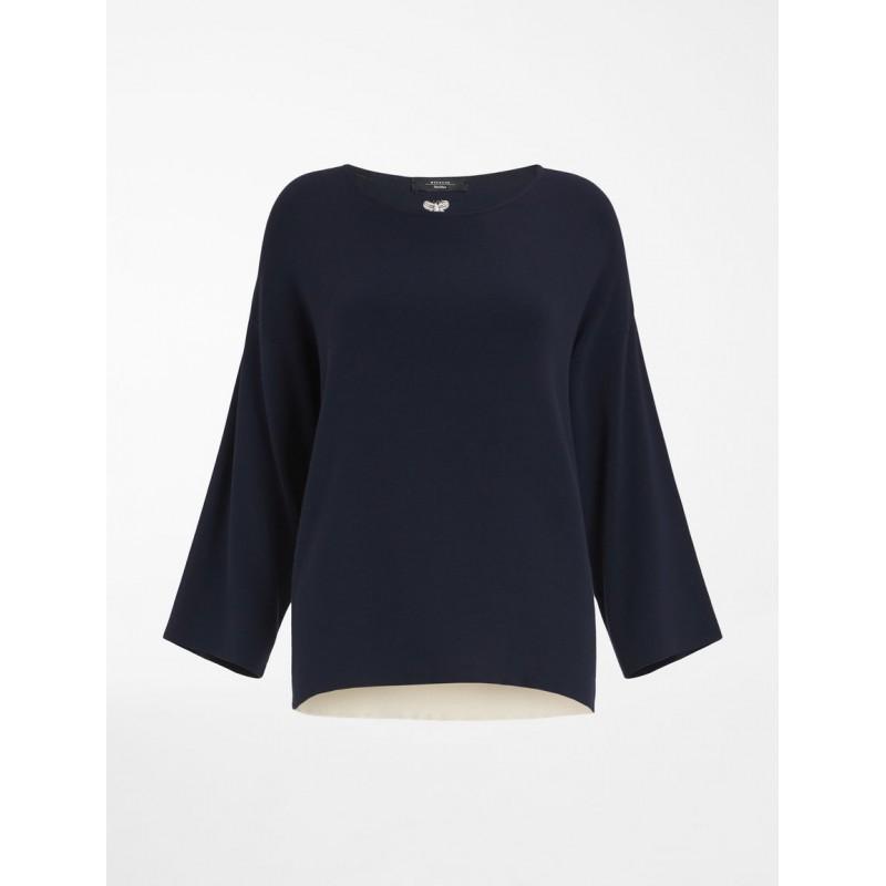 WEEKEND MAX MARA -  MULTIA Cotton Jersey T-Shirt - White