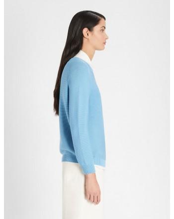 WEEKEND MAX MARA - PIROGA Cotton Knit - Sky Blue
