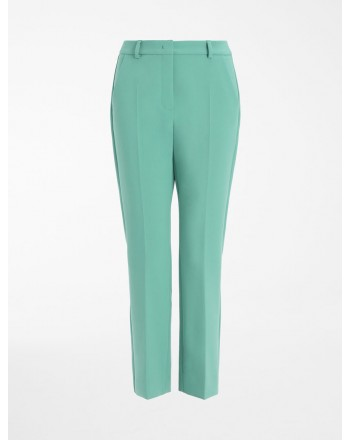 WEEKEND MAX MARA -  ALOA Crepe de Chine Trousers - Foulard Print