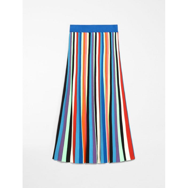 WEEKEND MAX MARA - Flutterflies OVE Viscose Cloth Skirt - Multicolor