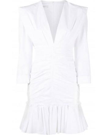 PHILOSOPHY - Short draped dress - White
