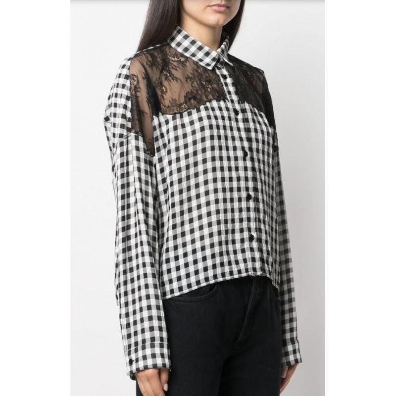 FAY - Korean Neck Shirt - White
